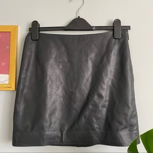 Wilfred Free Black Leather Skirt